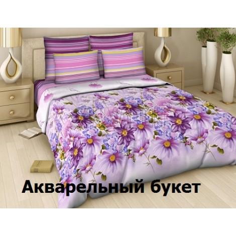 КПБ Василиса, поплин: 311 Акварельный букет 1