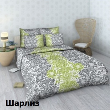 Постельное белье льняное семейное (дуэт), лен/хлопок (4 расцветки)