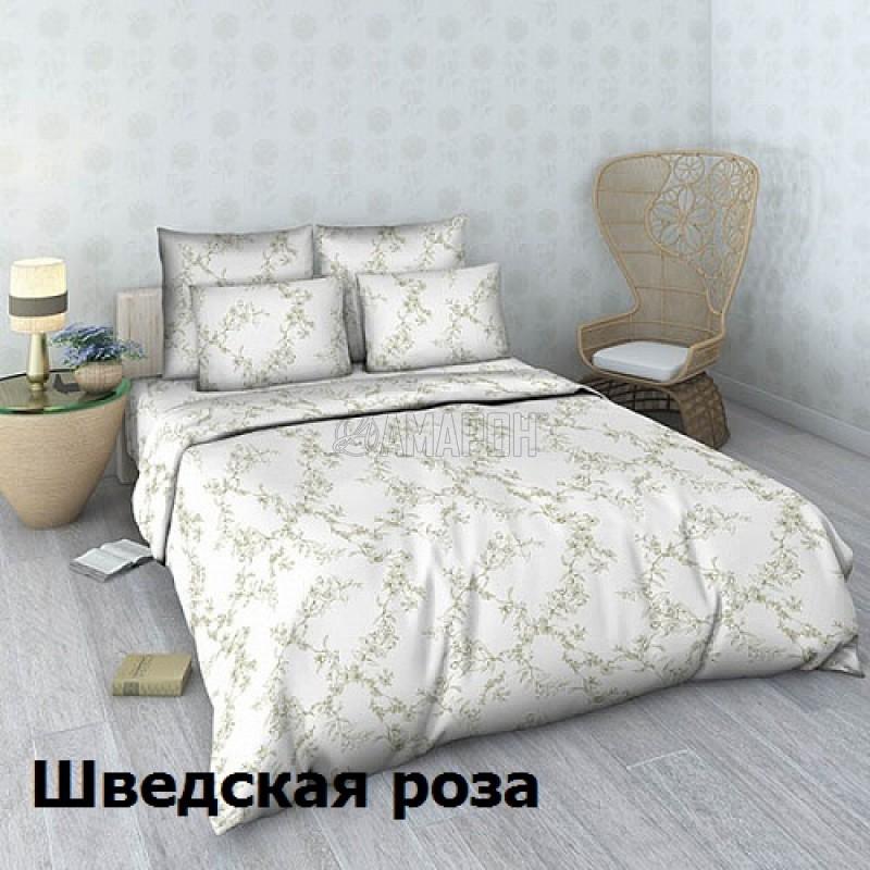 Постельное белье льняное евро, лен/хлопок (4 расцветки)