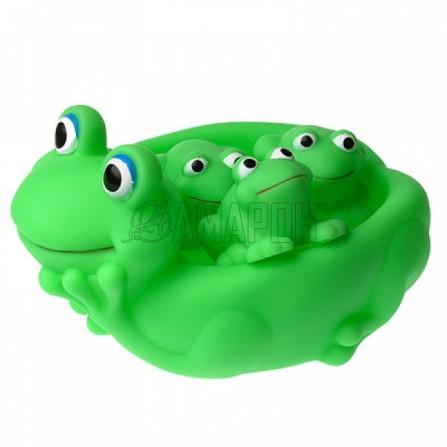 Курносики игрушки д/ванны семейка лягушки, 6 мес. + (25074)