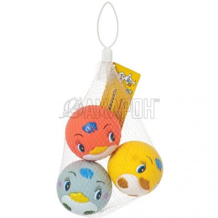 Курносики игрушки д/ванны мячики-пингвины, 6 мес. + (25083)