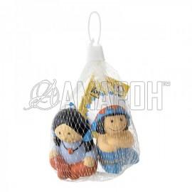Курносики набор игрушек-брызгалок д/ванны индейцы, 6 мес. + (25161)