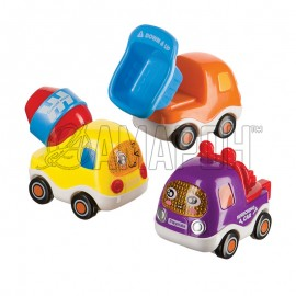 Набор веселых грузовичков с инерционным механизмом Cars 4 Fun