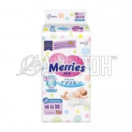 Подгузники Merries NB XS (0-3 кг), №38