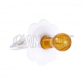Соска-пустышка латекс Ромашка-2 с кольцом