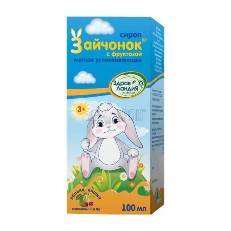 Зайчонок сироп детский успокаивающий Страна Здравландия, 100 мл