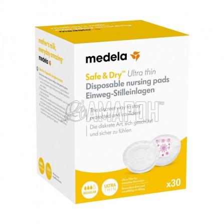 Медела прокладки для груди одноразовые впитывающие ультратонкие safe-dry, №60