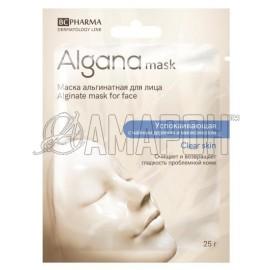 BC фарма маска для лица альгана успокаивающая с маслом чайного дерева и миоксинолом, 25 г
