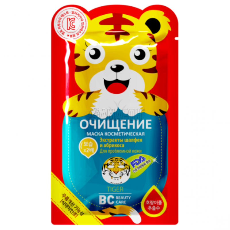 BC beauty care маска для лица очищающая тигр, 25 г