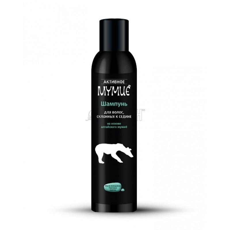 Активное мумие шампунь для волос склонных к седине 330 мл | доставка +7 дней