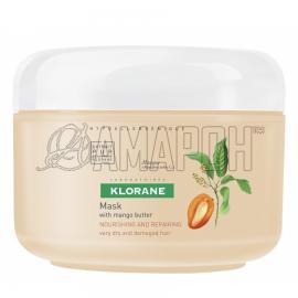 Клоран маска питательно-восстанавливающая для очень сухих и поврежденных волос с маслом манго, 150 мл