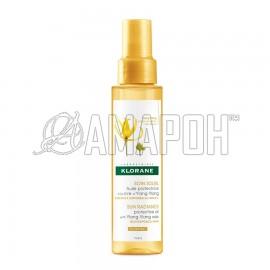 Клоран масло защитное для волос с воском иланг-иланг, 100 мл