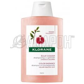 Клоран шампунь-сублиматор для хрупких окрашенных волос с гранатом, 200 мл