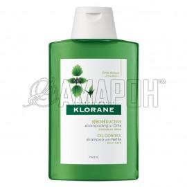 Клоран шампунь себорегулирующий для жирных волос с экстрактом крапивы