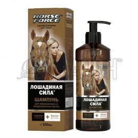 Лошадиная сила Шампунь для окрашенных волос с коллагеном, ланолином, биотином и аргинином, 500 мл