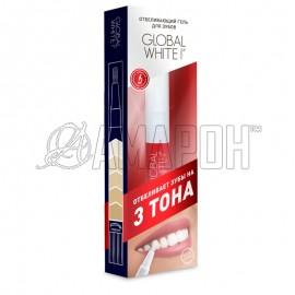 Гель-карандаш отбеливающий на 2-3 тона Global White, 5 мл