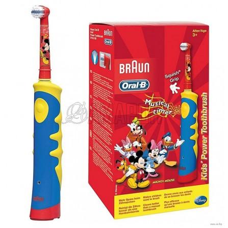 Орал Би электрическая зубная щетка детская Mickey for Kids D10.513