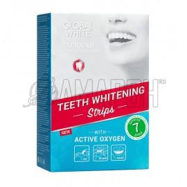 Полоски для отбеливания зубов Global White активный кислород, №7