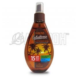 Ф253 Пальмовый рай масло для быстрого загара Гавайское SPF 15, 160 мл