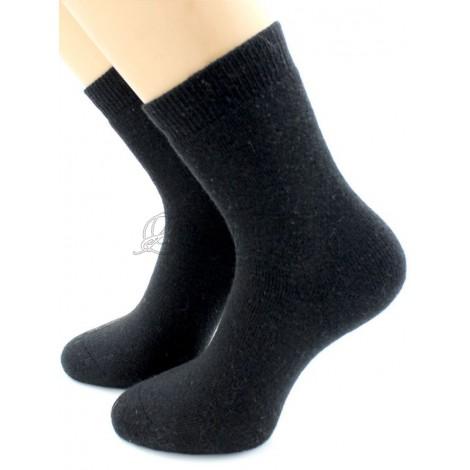 Носки женские шерстяные зимние Премиум (ангора, кашемир): черные, индиго, 6572