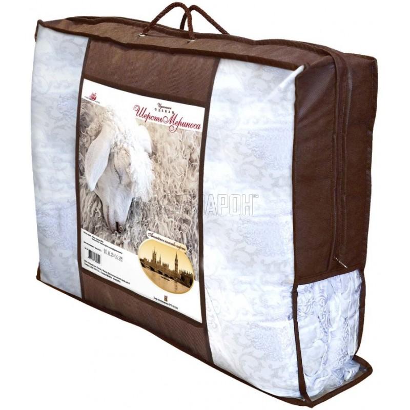 Одеяло с наполнителем из овечьей шерсти Меринос зимнее евро (200х215 см)