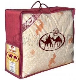 Одеяло с наполнителем из верблюжьей шерсти всесезонное Караван евро (200х215 см)