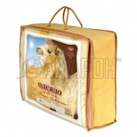 Одеяло с наполнителем из верблюжьей шерсти всесезонное 1,5-спальное (140х205 см)