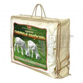 Одеяло с наполнителем из овечьей шерсти зимнее 1,5-спальное (140х205 см)