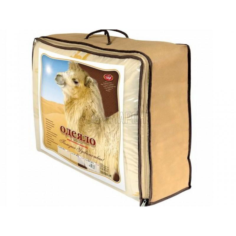 Одеяло с наполнителем из верблюжьей шерсти зимнее евро (200х215 см)