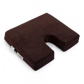 Подушка ортопедическая для сиденья memory foam 40х34х3/7 см