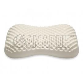 Подушка ортопедическая ВипСон Релакс Бьюти memory foam с эффектом памяти рельефная 59х34х10/8 см