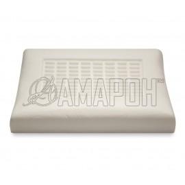 Подушка ортопедическая ВипСон СПА-Релакс Б memory foam с эффектом памяти рельефная 70х40х12/11 см
