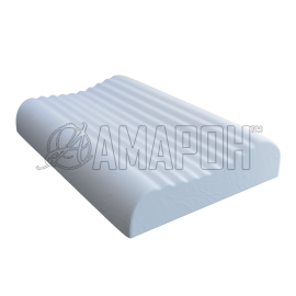 Подушка ортопедическая ВипСон Вике-Р memory foam с эффектом памяти ребристая 52х35х9,5 см