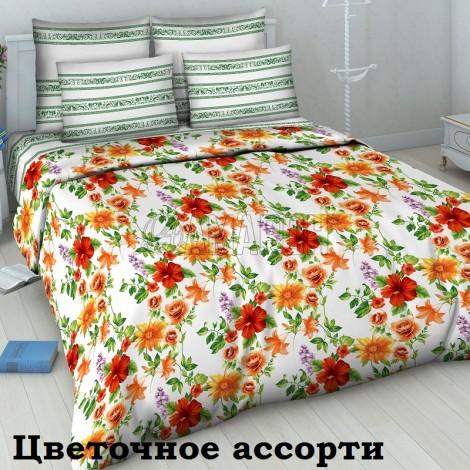 Выберите расцветку КПБ 3-D (хлопок):: Цветочное ассорти 5485
