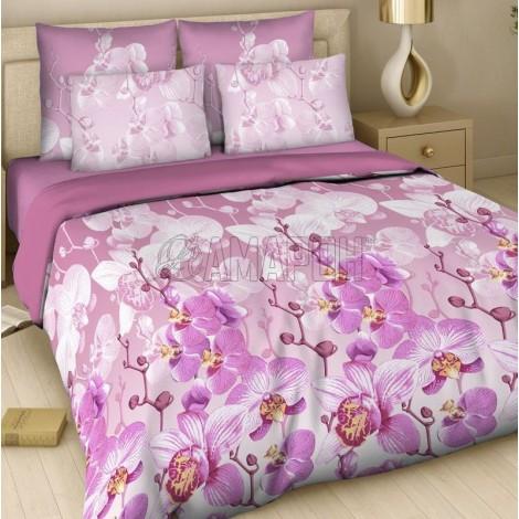 Выберите расцветку КПБ 3-D (хлопок):: Красавица орхидея 7345