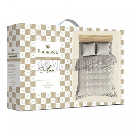 Постельное белье льняное 1,5-спальное, лен/хлопок (4 расцветки)