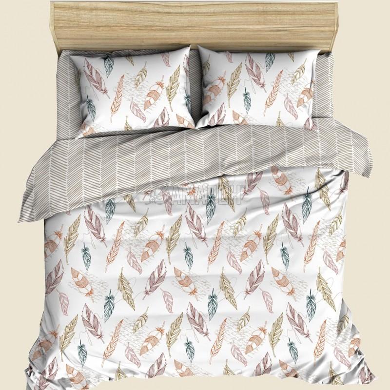 Постельное белье льняное 1,5-спальное, лен/хлопок Вдохновение