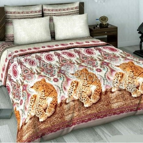 Выберите расцветку КПБ-сатин: Великолепный ягуар 606 (2 наволочки)