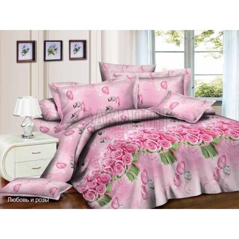 Выберите расцветку КПБ 3-D (микросатин/бамбук):: любовь и розы