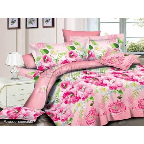 Выберите расцветку КПБ 3-D (микросатин/бамбук):: розовое цветение