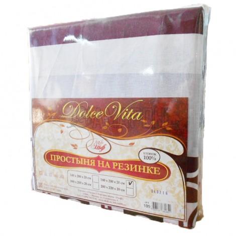 Простыня на резинке хлопковая Dolce Vita 140х200х20 см (расцветки в ассортименте)