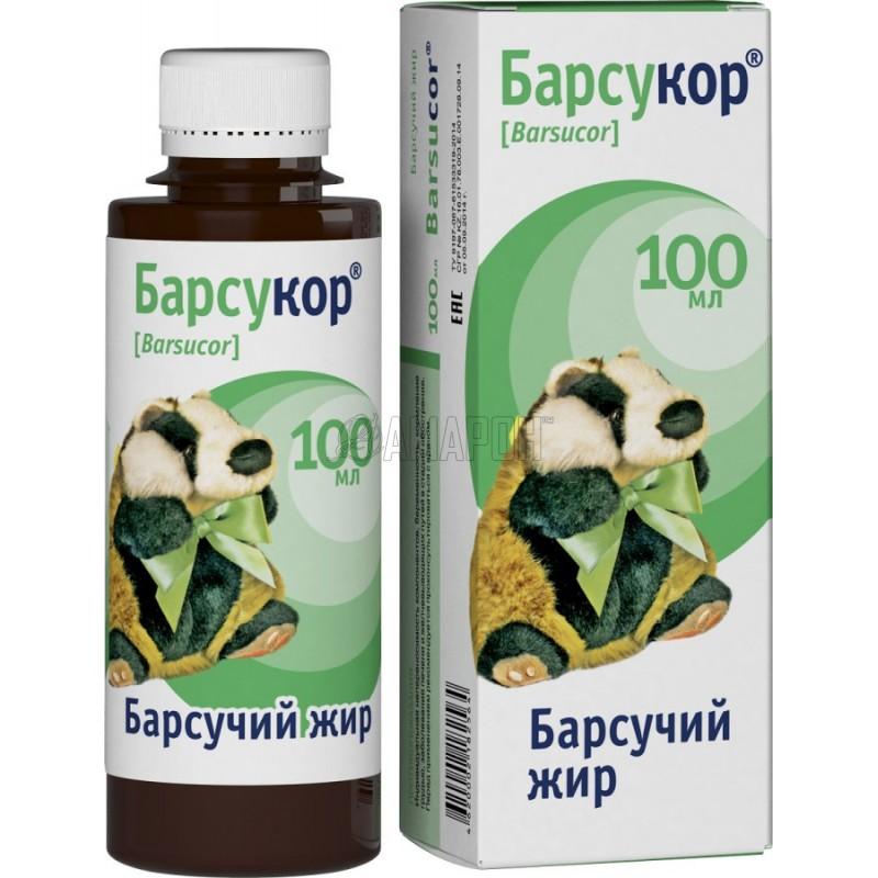 Барсукор барсучий жир, 100 мл