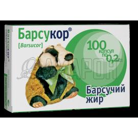 Барсукор барсучий жир капс., 200 мг, №100