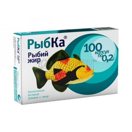Рыбий жир Рыбка капс., №100