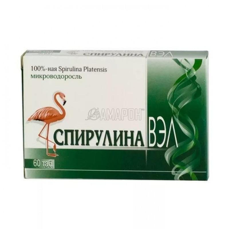 Спирулина ВЭЛ 0,5 г, таб., №60 | доставка +7 дней