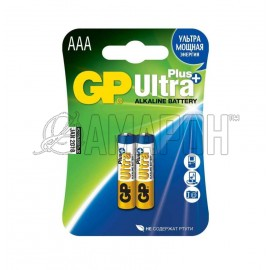 Батарейка алкалиновая GP ultra plus LR03 (ААА) 1,5В, №2
