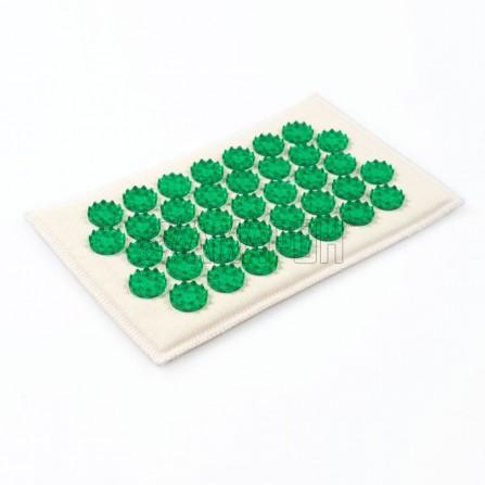Иппликатор Кузнецова тибетский на мягкой подложке 12х22 см (зеленый)