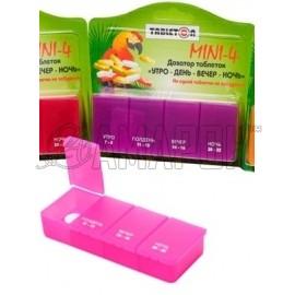 Таблетон Мини-4 таблетница-контейнер на 1 день (4 приема)