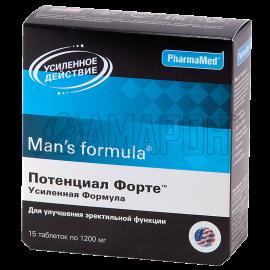Мен-с формула потенциал форте усиленная формула таб., 1200 мг, №15