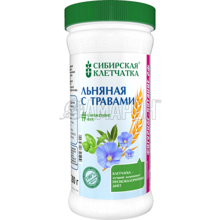 Сибирская клетчатка льняная с травами 280 г | доставка +7 дней
